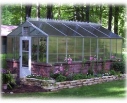 Orchid Greenhouse in the Woods