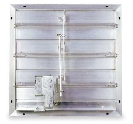 Motorized Intake Shutter 24 Aluminum Arcadia Glasshouse