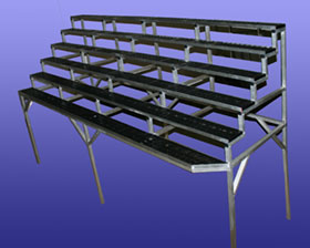 tiered-benches
