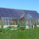 Glass Greenhouse with Reverse Gable Entry