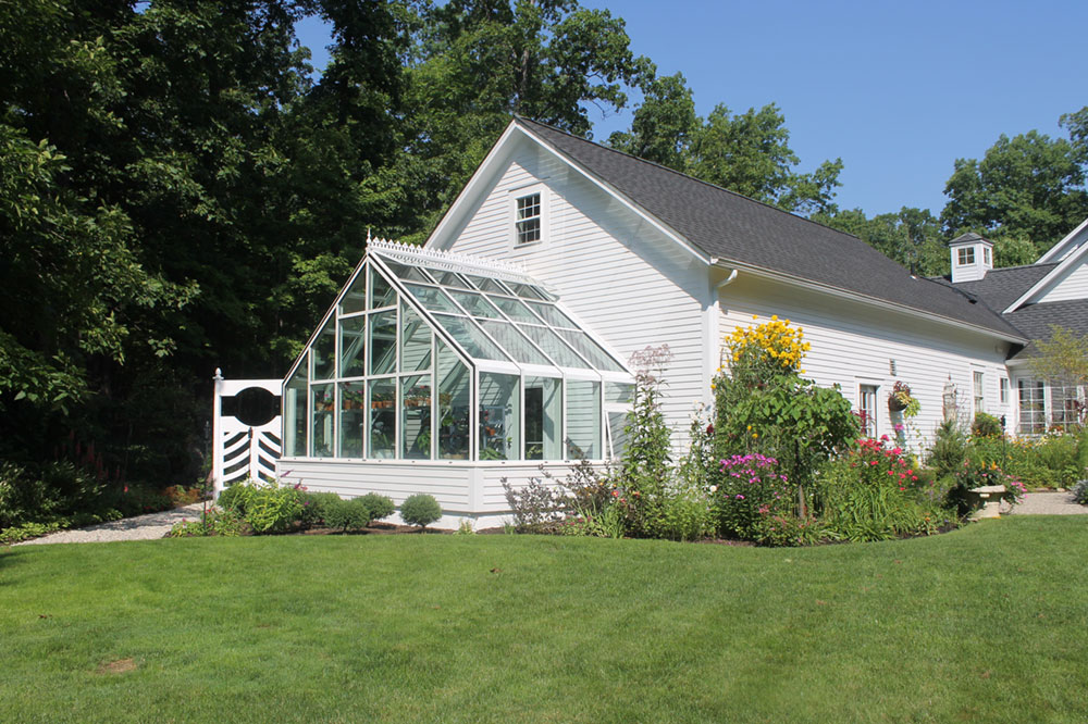 Gable Attached Garden Greenhouse